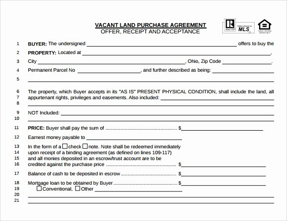 Land Purchase Agreement form Pdf Elegant Land Purchase Agreement Template 17 Download Free