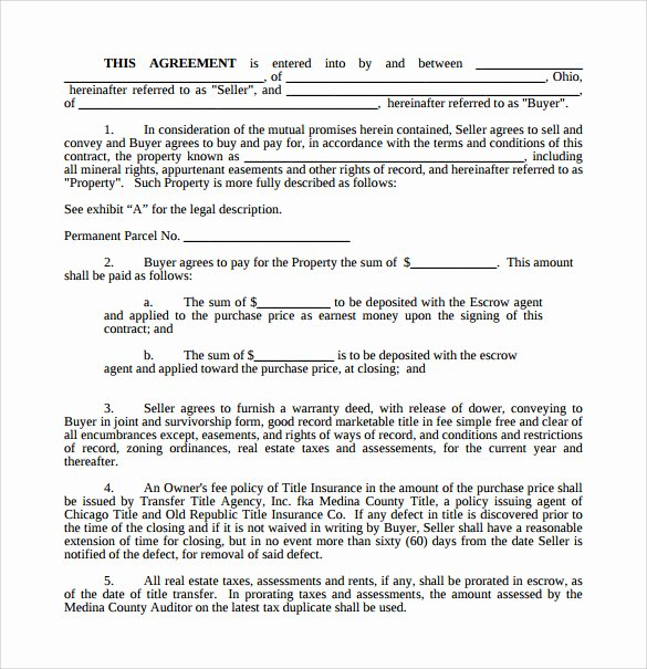 Land Purchase Agreement form Pdf Fresh Land Purchase Agreement Template 17 Download Free