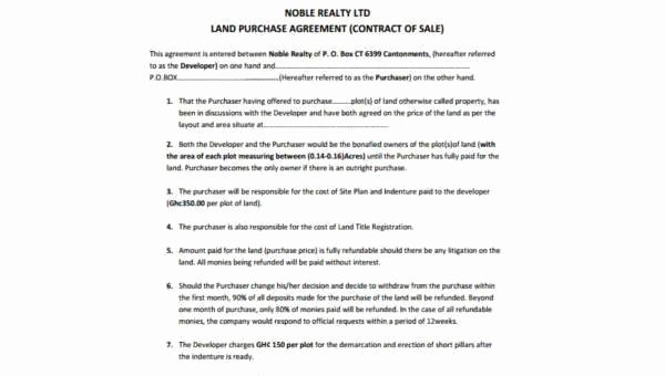 Land Purchase Agreement form Pdf Unique Land Purchase Agreement Samples 9 Free Documents In Pdf