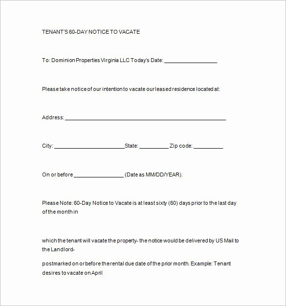 Landlord Notice to Vacate Awesome Notice Templates 104 Free Word Pdf format Download