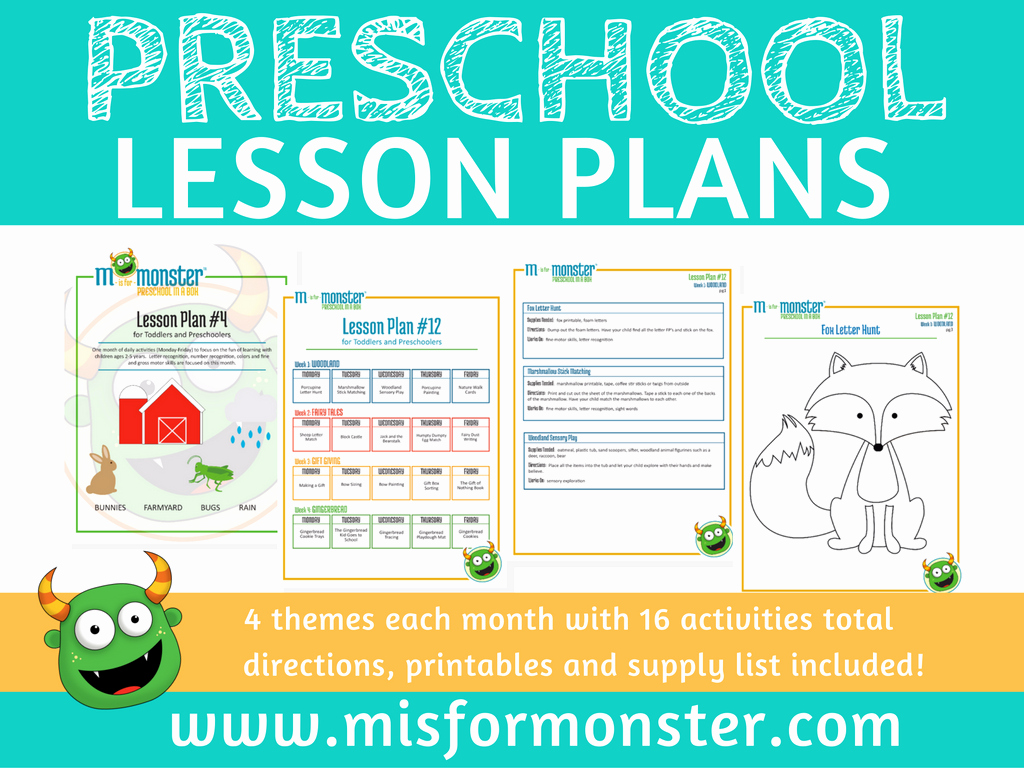 Lesson Plans for toddlers Awesome M is for Monster Digital Lesson Plans Of Learning