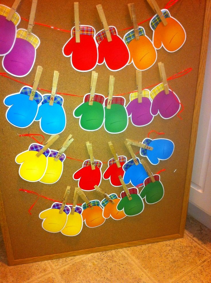 Lesson Plans for toddlers Beautiful Winter Matching Game for toddlers Preschoolers Promotes