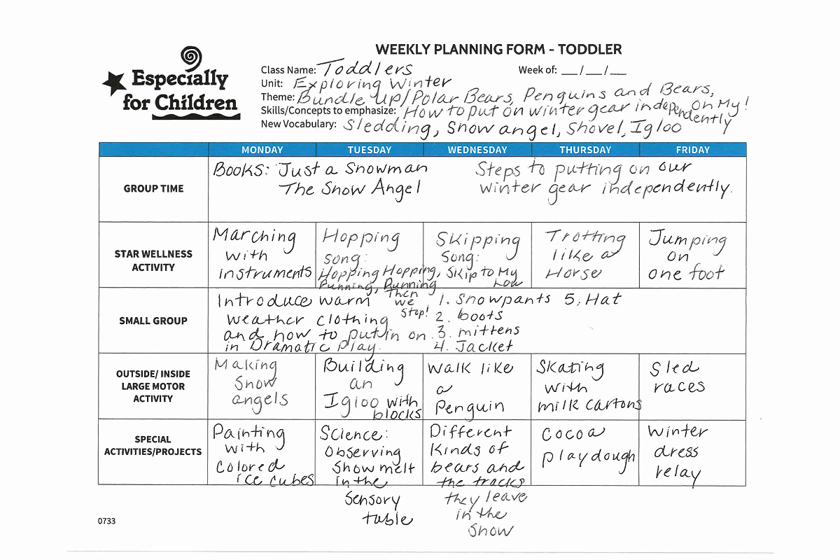 Lesson Plans for toddlers Elegant Activity Winter Gear Especially for Children