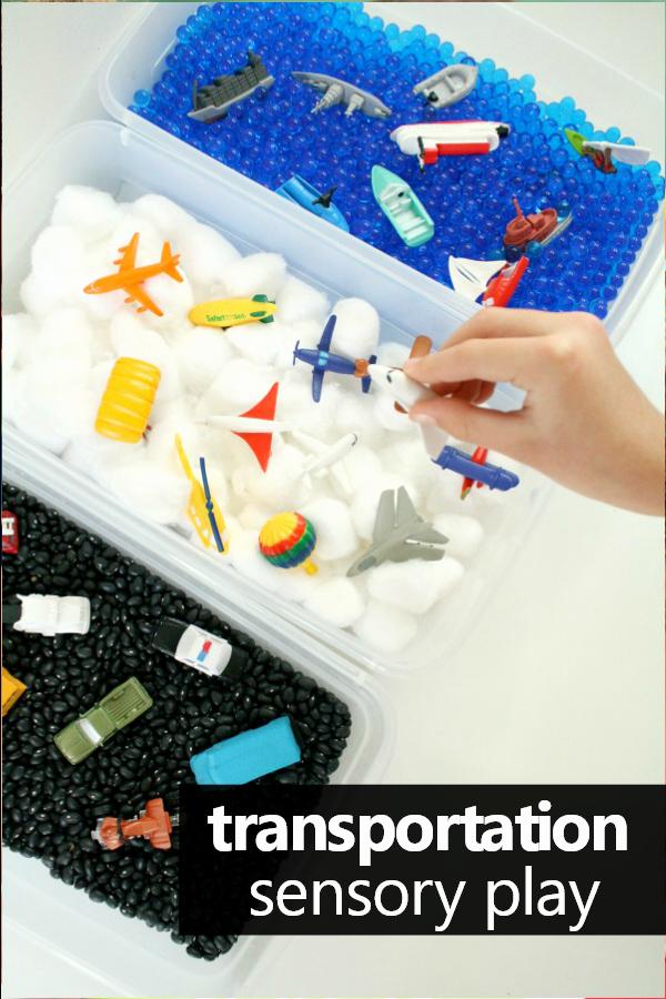 Lesson Plans for toddlers Elegant Transportation theme Sensory Bin Fantastic Fun & Learning