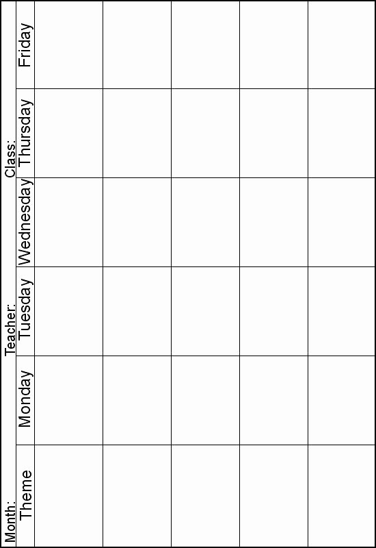 Lesson Plans for toddlers Elegant Weekly Lesson Planner Instead Of theme I Can Print One