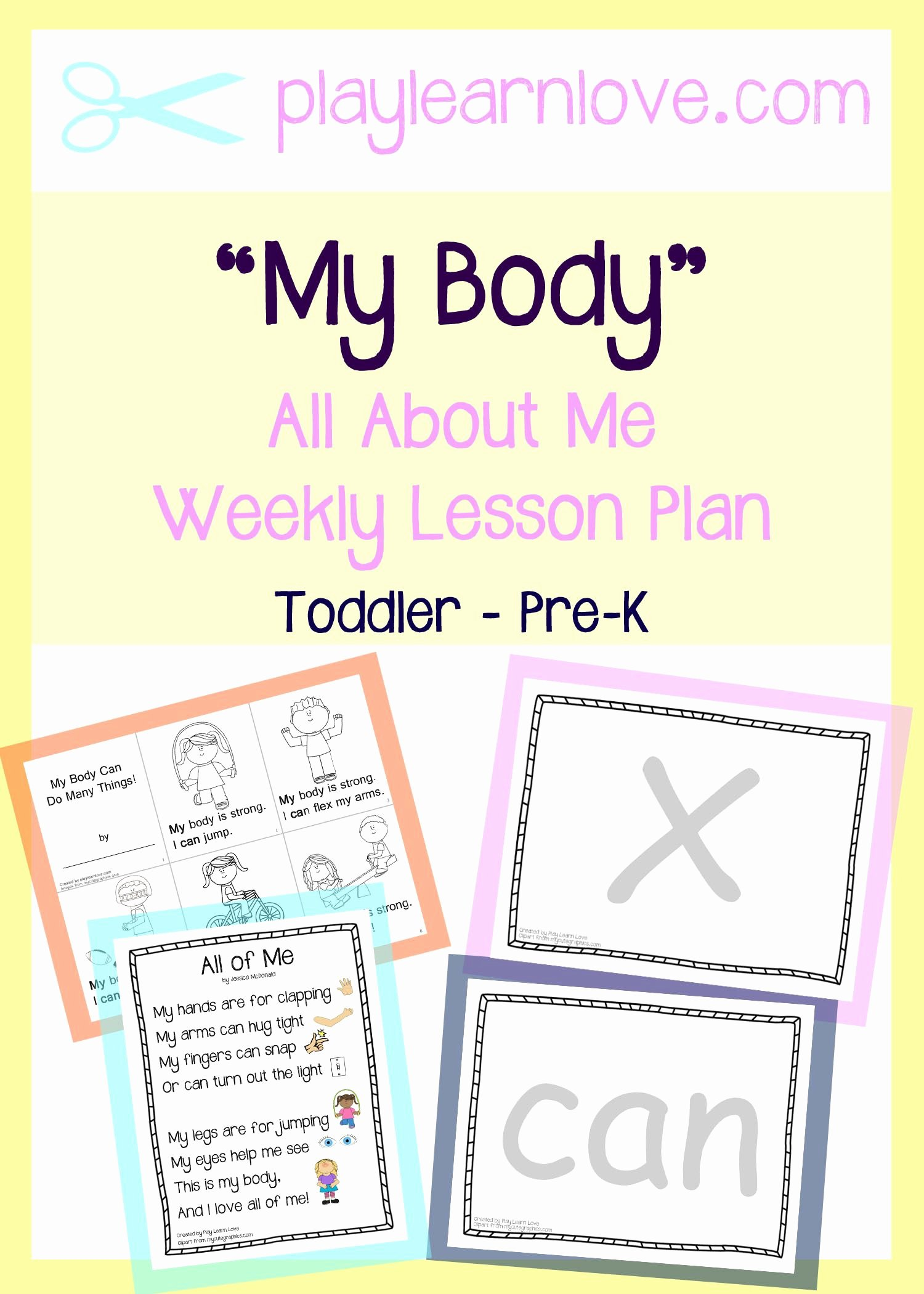 Lesson Plans for toddlers Inspirational All About Me My Body Lesson Plan From Play Learn Love