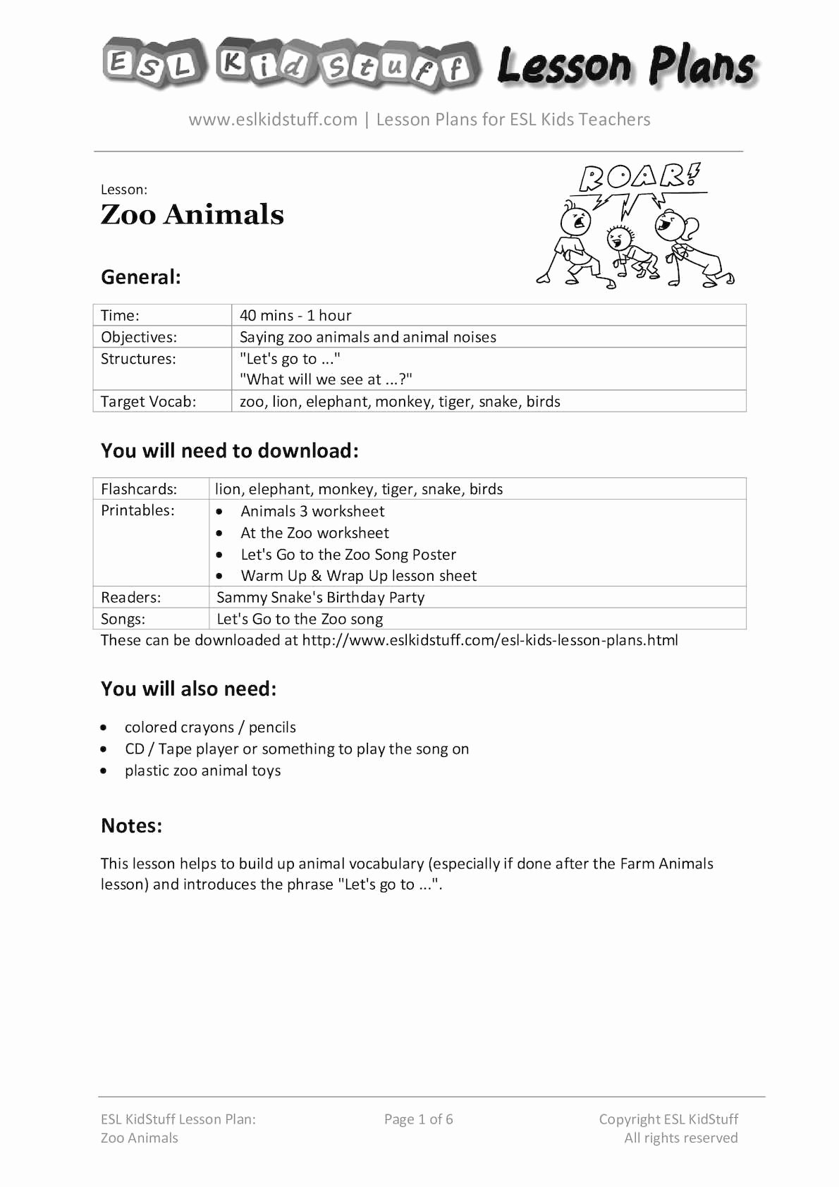 Lesson Plans for toddlers Lovely Calaméo Zoo Animals Lesson Plan