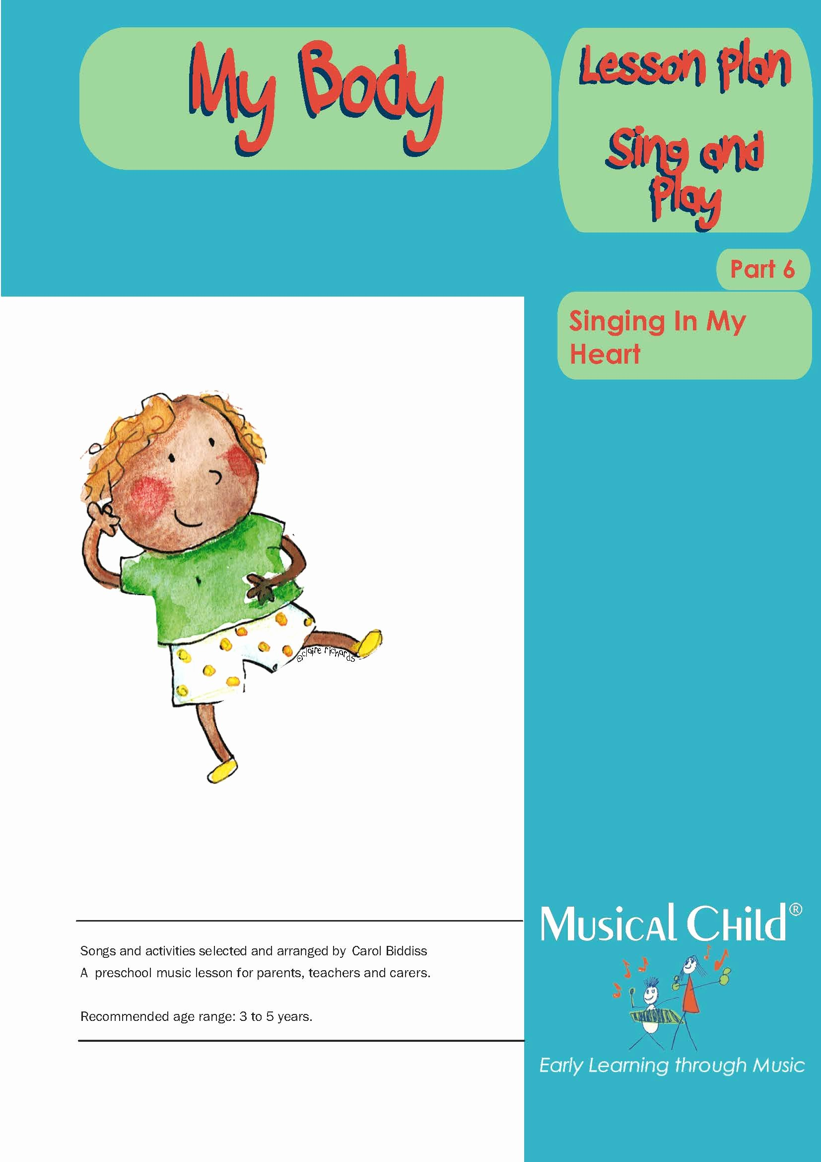Lesson Plans for toddlers Lovely My Body Preschool Music Lesson Plan 6 Download