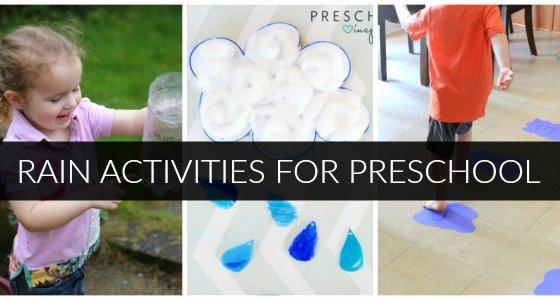 Lesson Plans for toddlers Unique Rain Activities for Preschoolers Pre K Pages