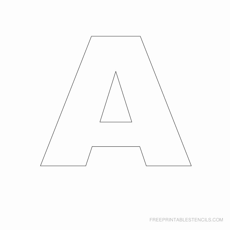 Letter A Printable Awesome Big Letter Printable Stencils A to Z