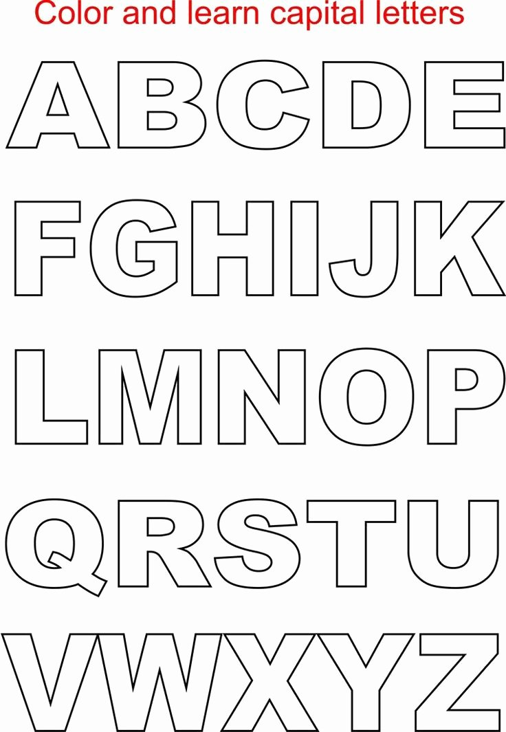Letter A Printable Beautiful Capital Letters Coloring Printable Page for Kids