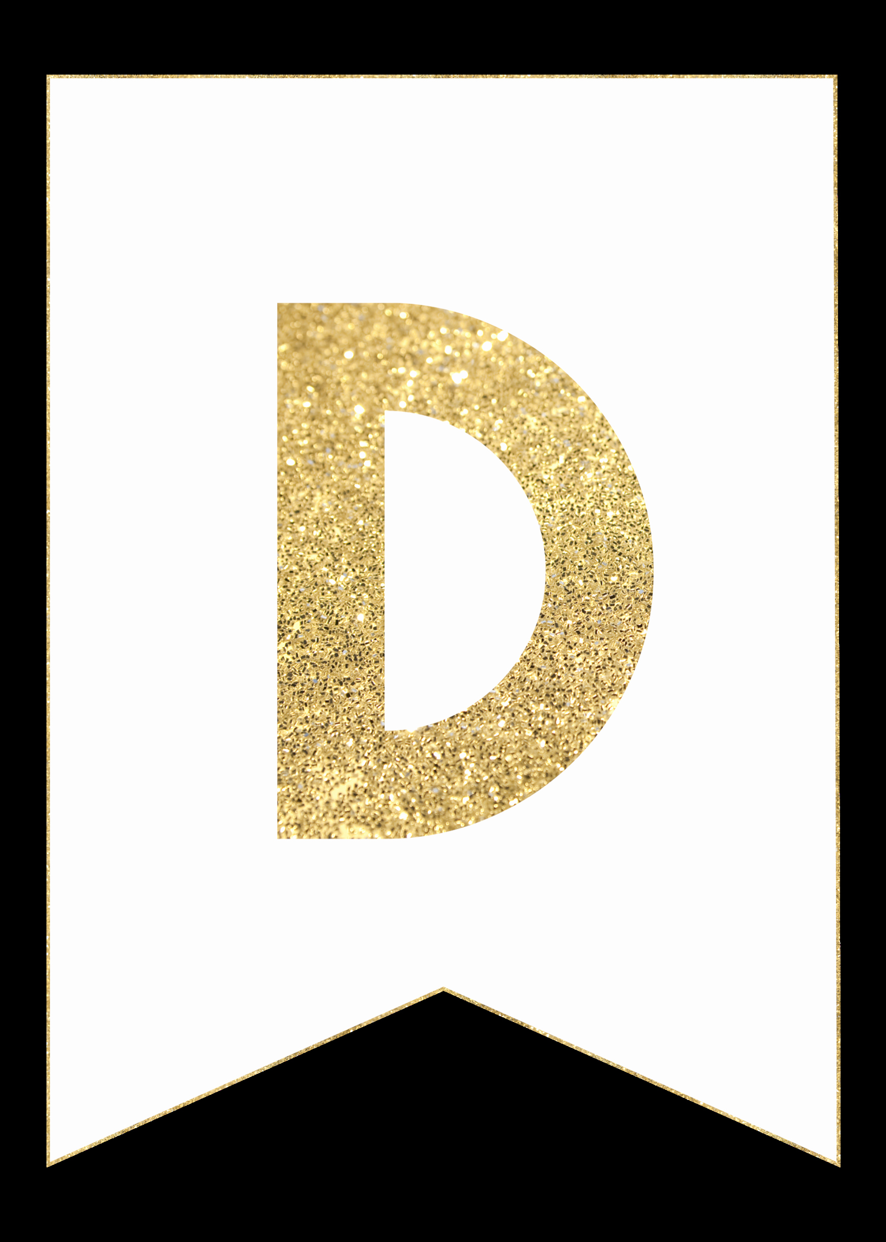 Letter A Printable Beautiful Gold Free Printable Banner Letters Paper Trail Design