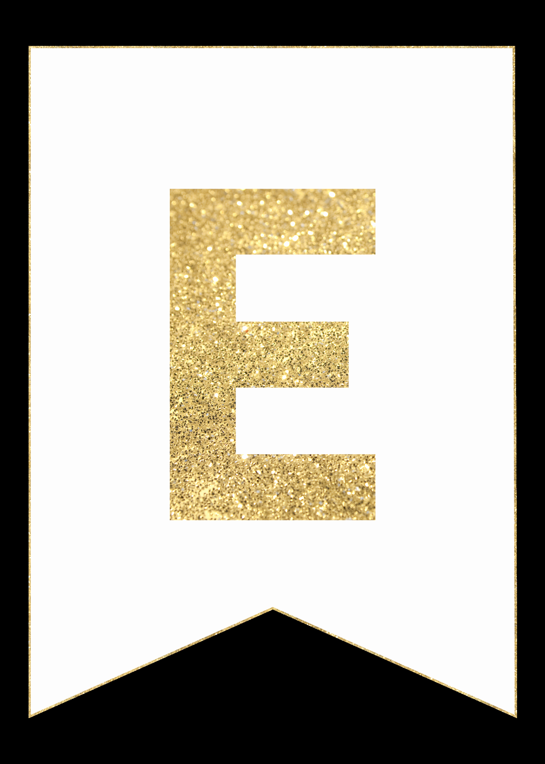 Letter A Printable Best Of Gold Free Printable Banner Letters Paper Trail Design