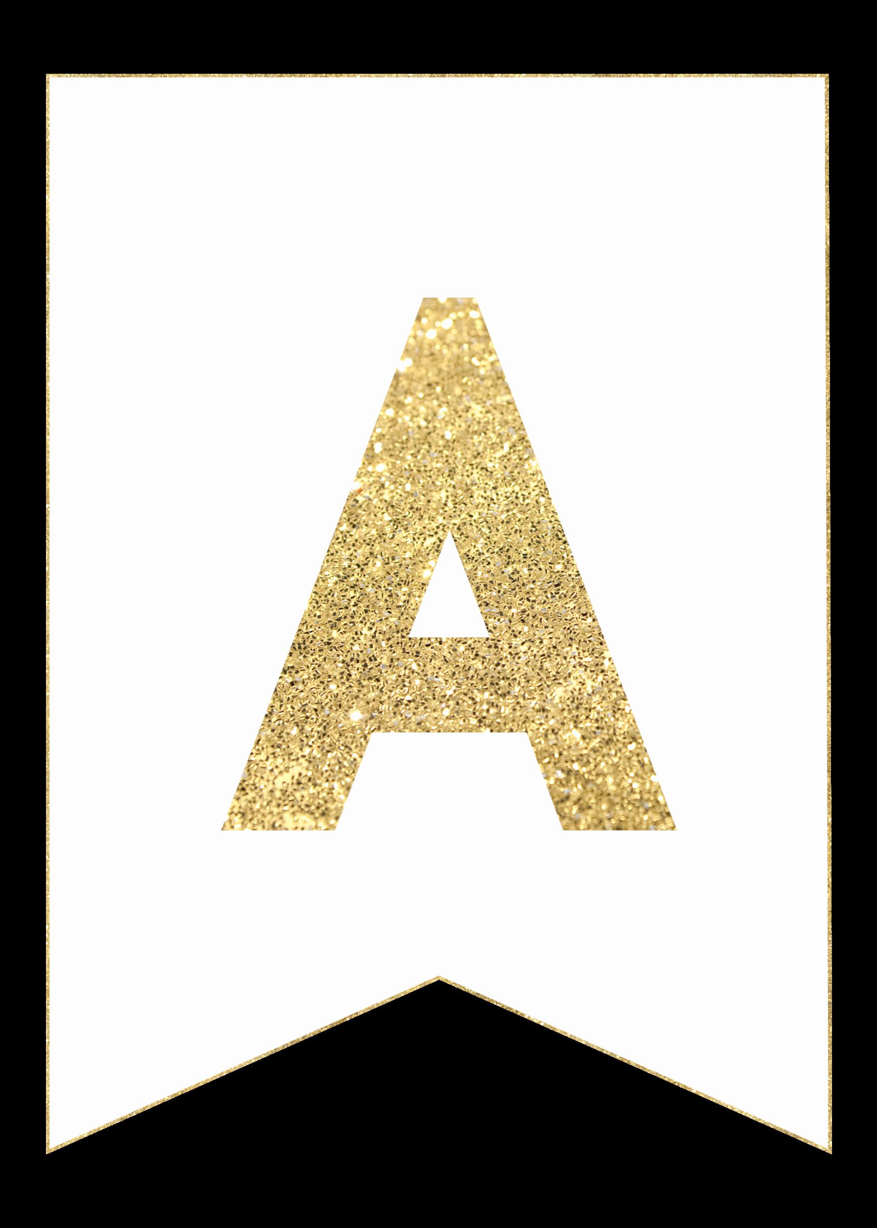 Letter A Printable Elegant Gold Free Printable Banner Letters Paper Trail Design