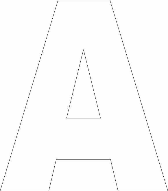 Letter A Printable Fresh Free Printable Alphabet Template Upper Case