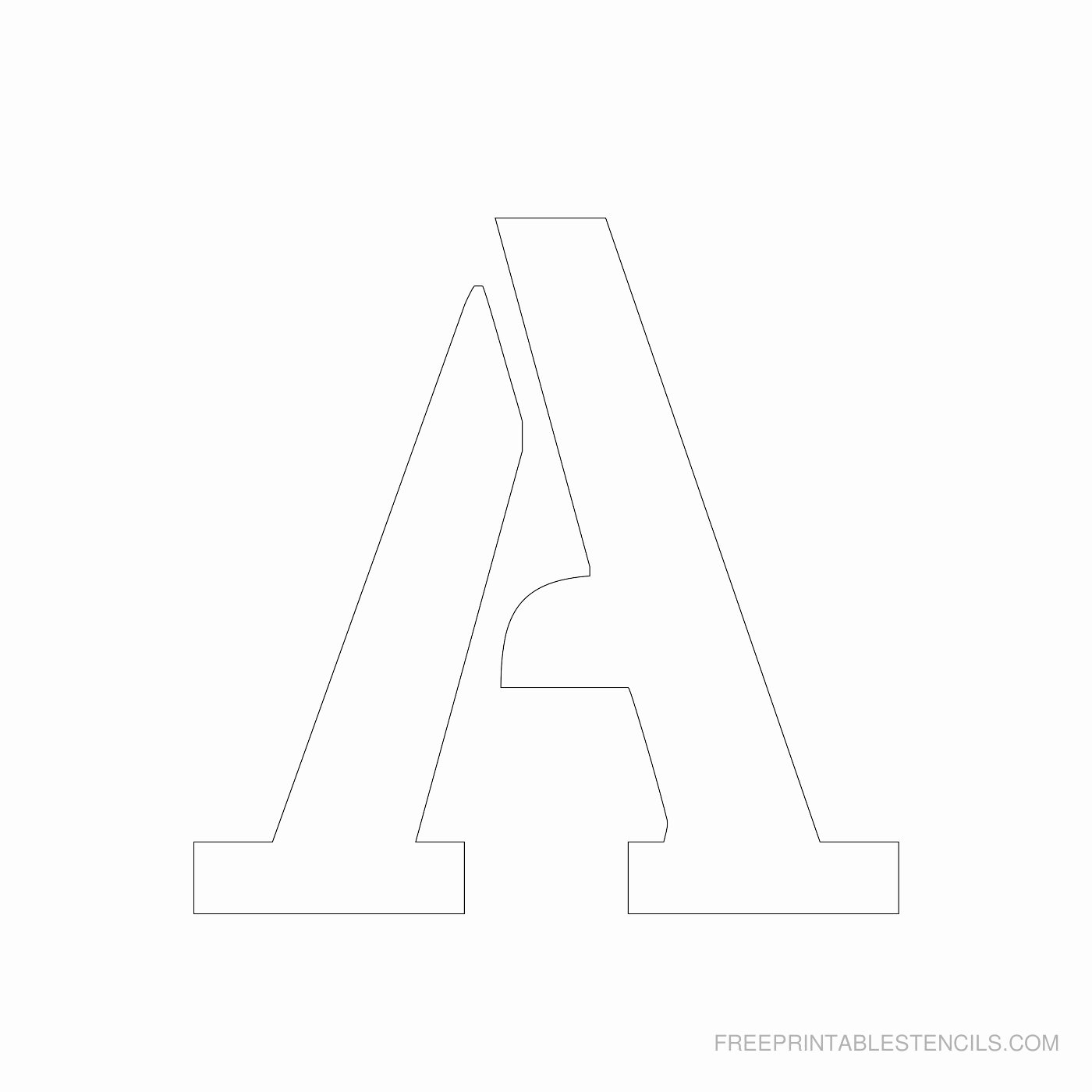 Letter A Printable Fresh Printable 4 Inch Letter Stencils A Z