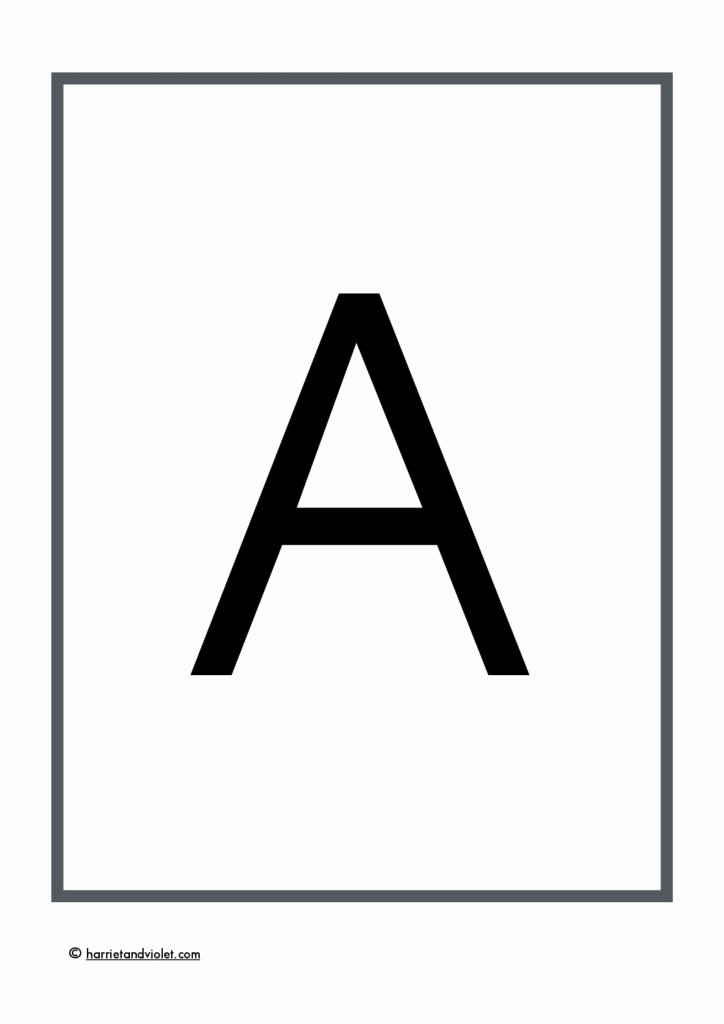 Letter A Printable Inspirational A4 Plain Alphabet Lower Case Letters Free Teaching