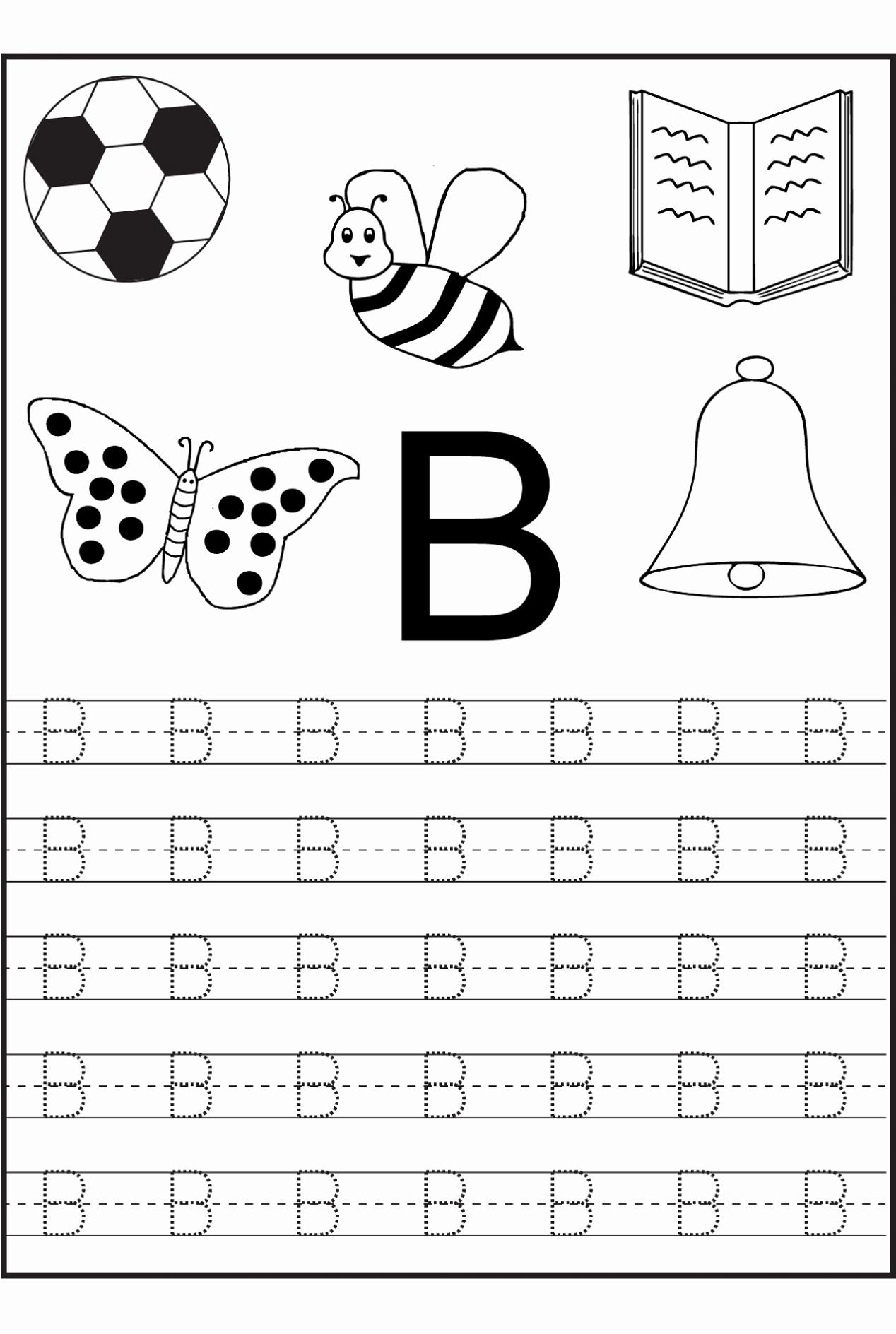 Letter A Printable Inspirational Free Printable Letter B Worksheets for Kindergarten