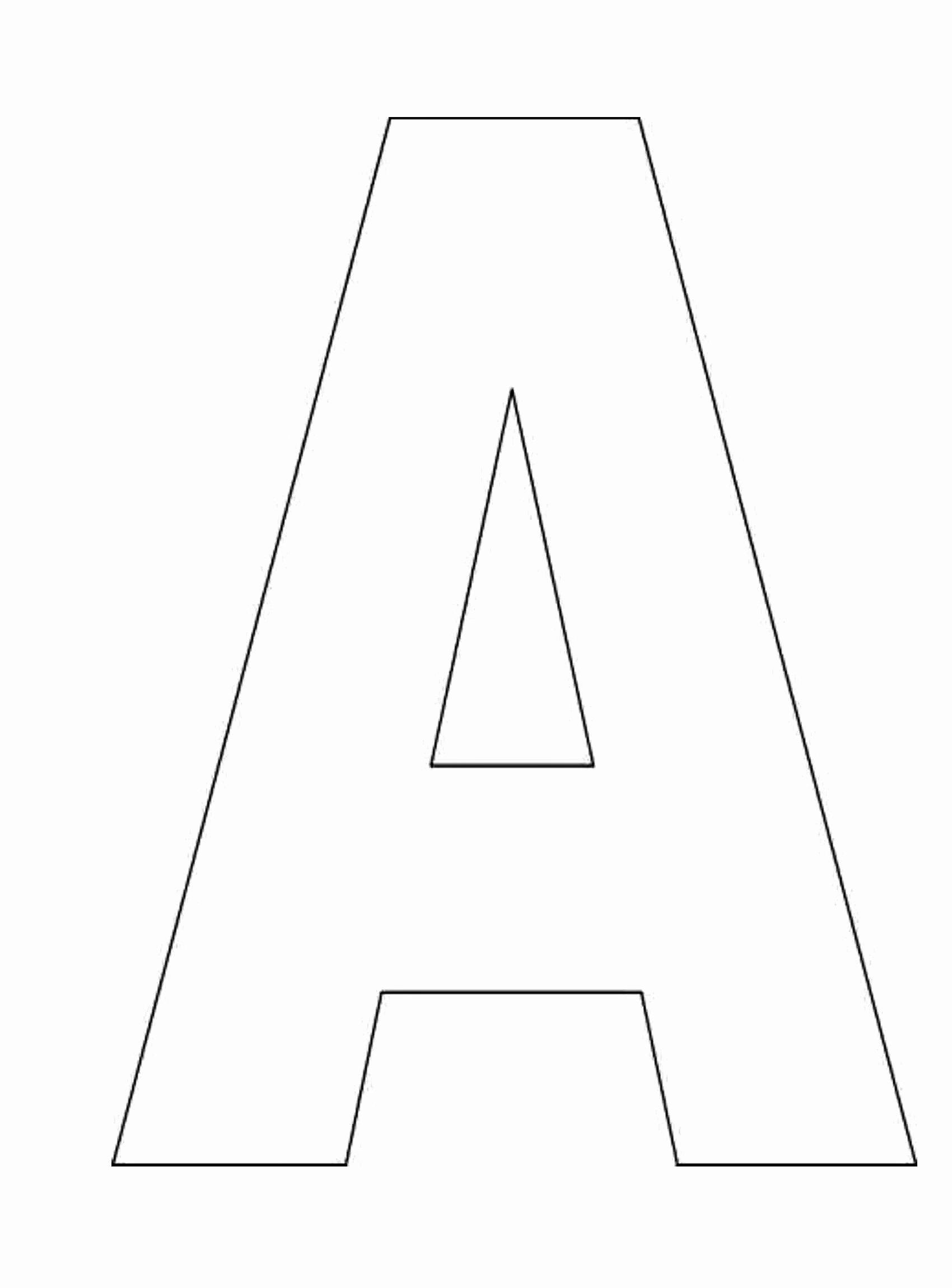 Letter A Printable Inspirational Printable Alphabet Letter Templates Free Alphabet Letter