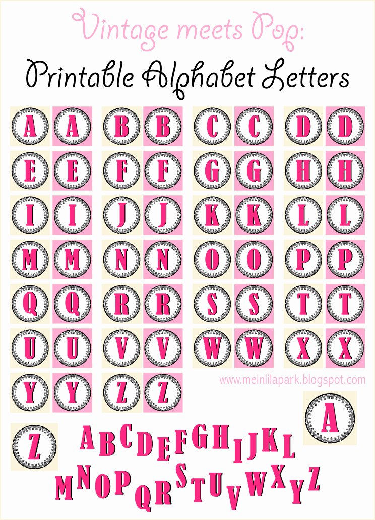 Letter A Printable Lovely Free Printable Vintage ornament Alphabet Letters