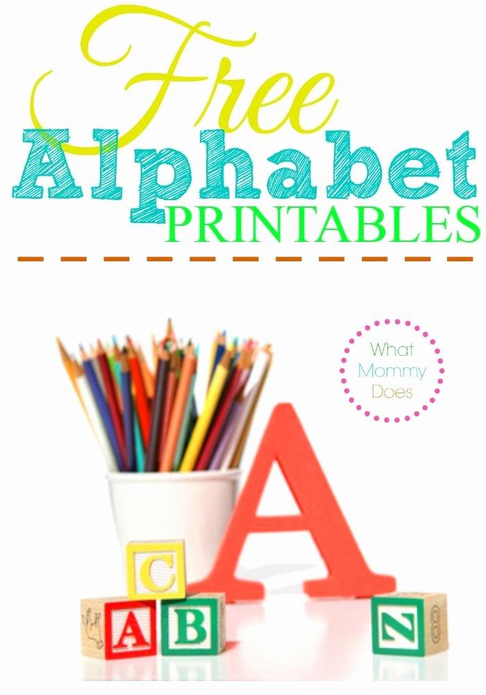 Letter A Printable New Free Alphabet Printables – Letters Worksheets Stencils