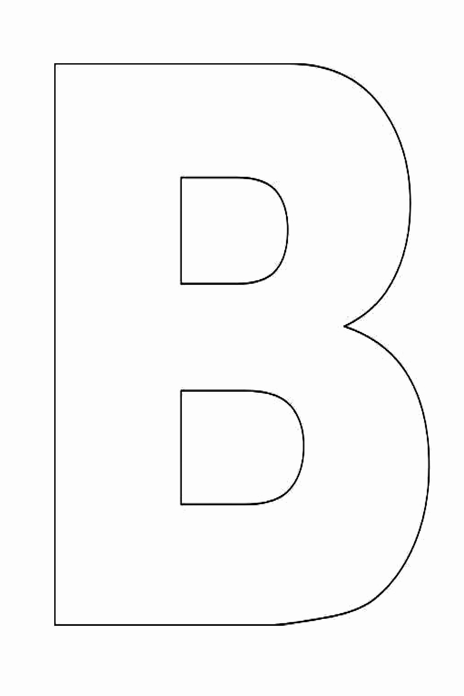 Letter B Printable Beautiful Alphabet Letter B Template for Kids