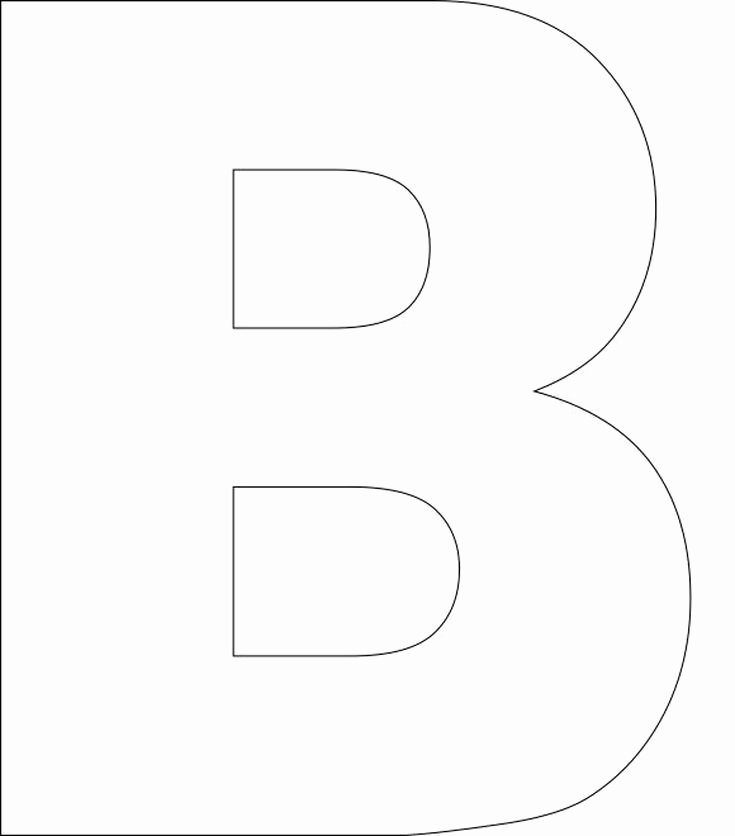Letter B Printable Fresh Best 25 Alphabet Templates Ideas On Pinterest