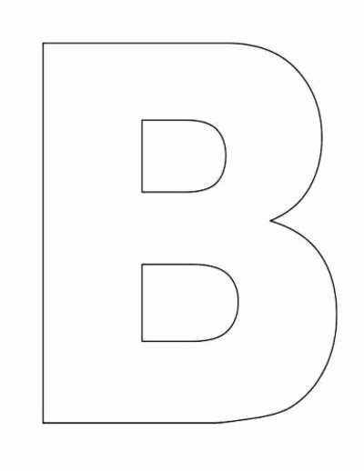Letter B Printable Fresh Best S Of Letter Templates Printable Letter B
