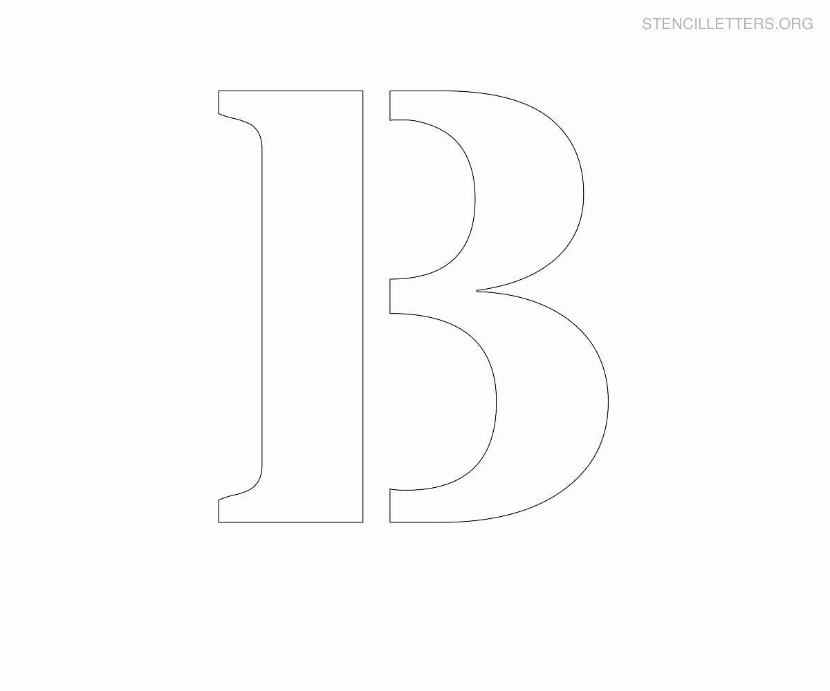 Letter B Printable Inspirational Printable Letter Stencils Stencil Letter B