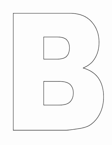 Letter B Printable Lovely Here S A Simple Alphabet Letter B Template for Kids This
