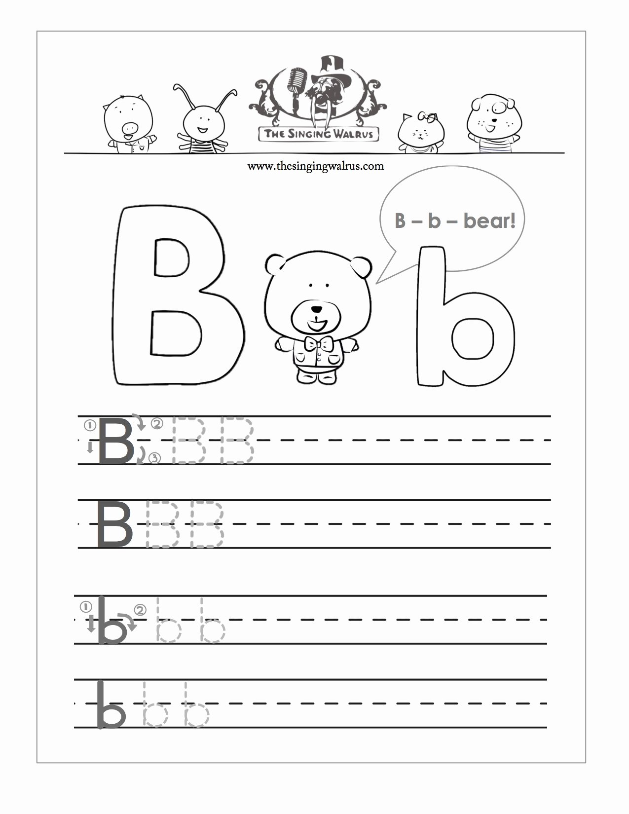 alphabet writing practice sheets
