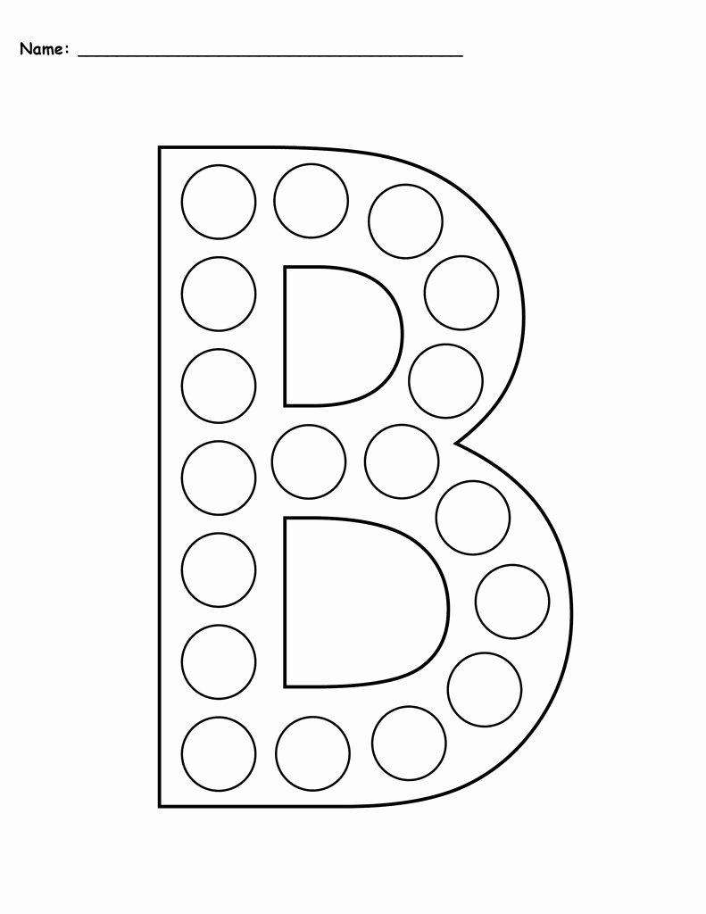 Letter B Printable New Free Letter B Do A Dot Printables Uppercase & Lowercase
