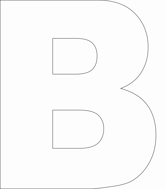 Letter B Printable New Free Printable Alphabet Template Upper Case