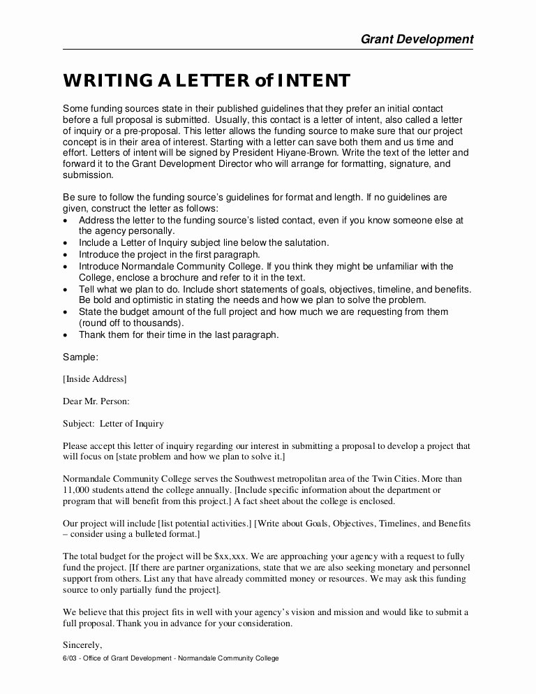 Letter Of Intent for Colleges Luxury Writing A Letter Of Intent