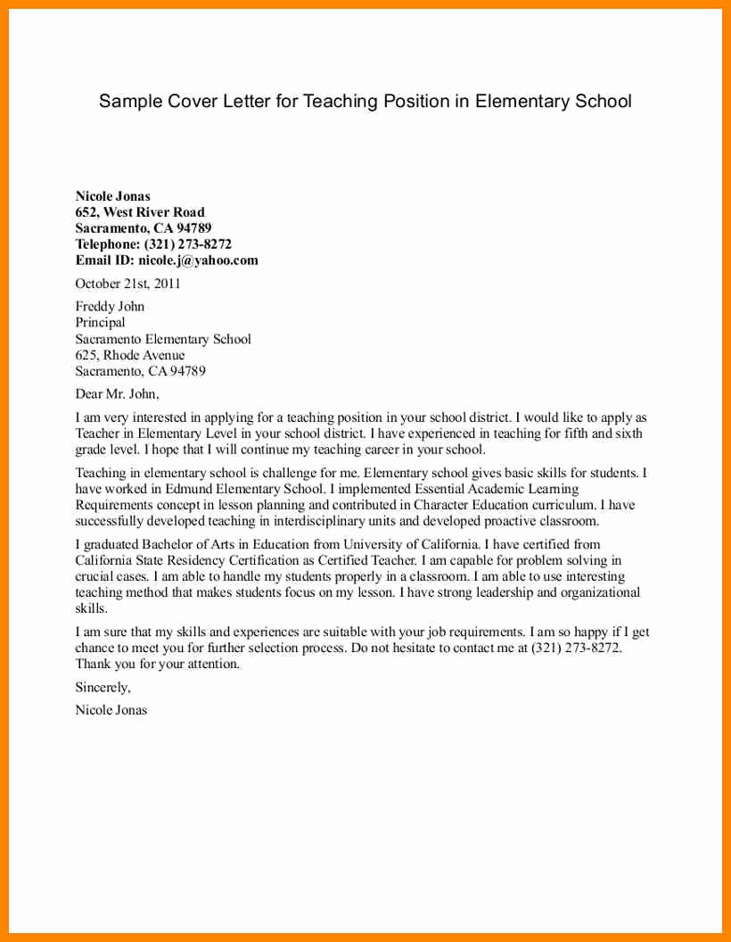 Letter Of Interest Teacher Awesome 10 Sample Letter Of Interest Teaching