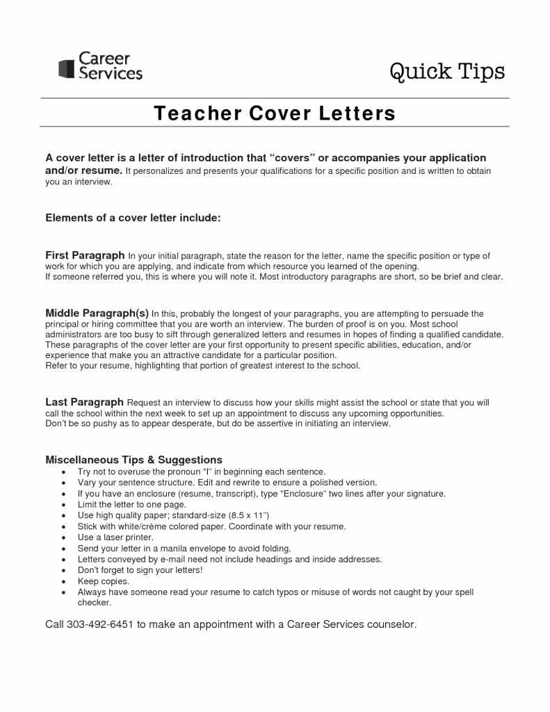 Letter Of Interest Teacher Fresh Sample Cover Letter for Teaching Job with No Experience