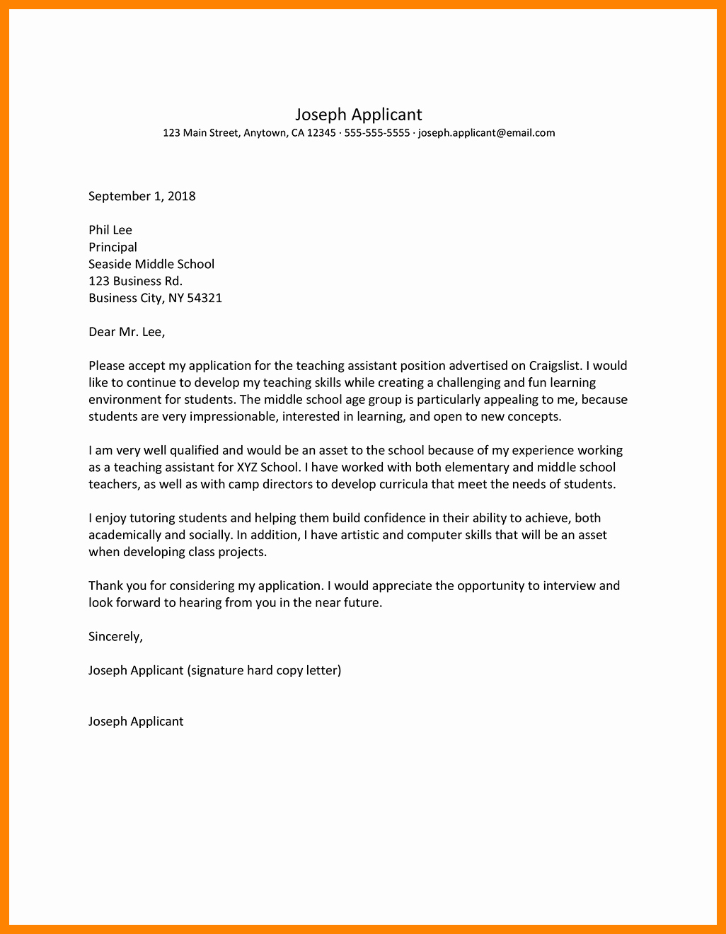 Letter Of Interest Teacher New 8 9 Teacher Letter Of Interest Sample