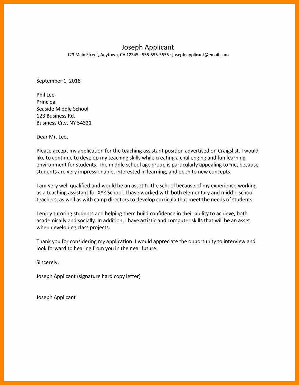 Letter Of Interest Teacher New 8 9 Teacher Letter Of Interest Sample
