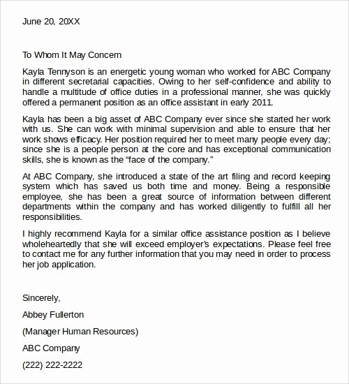 Letter Of Recommendation Templates Word Luxury 28 Letter Of Re Mendation In Word Samples
