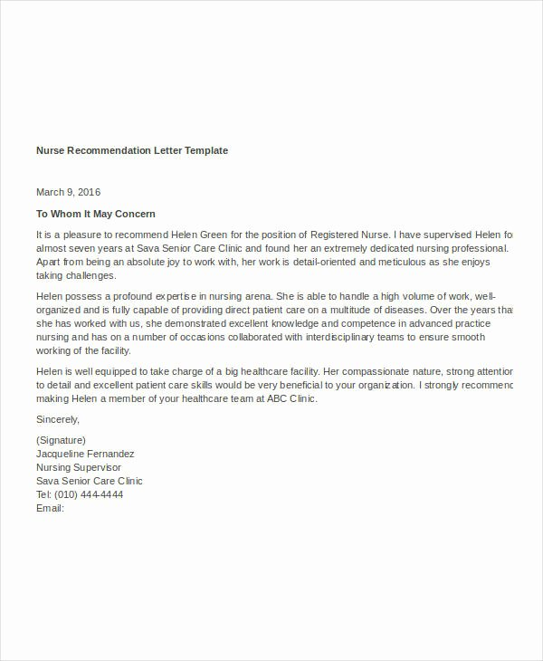 Letter Of Recommendation Templates Word Unique 37 Simple Re Mendation Letter Template Free Word Pdf