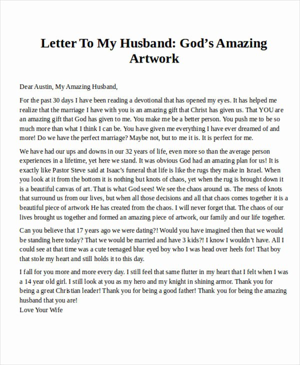 Letter to My Husband Luxury Love Letters to My Husband