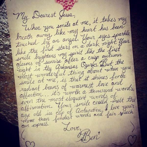 Letter to My Husband Unique Jessa Duggar Gets Romantic S Love Letter From