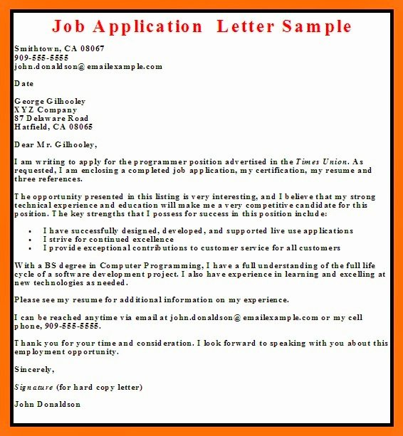 Letters Of Application Examples Luxury Business Letter Examples Job Application Letter