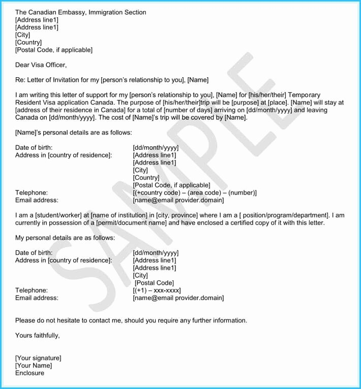 Letters Of Recommendation for Immigration Fresh Immigration Reference Letters 6 Samples & Templates