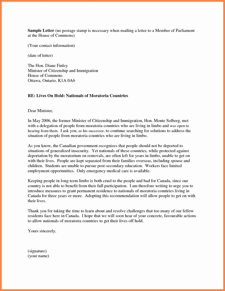 Letters Of Recommendation for Immigration Inspirational 7 Personal Re Mendation Letter for Immigration Sample