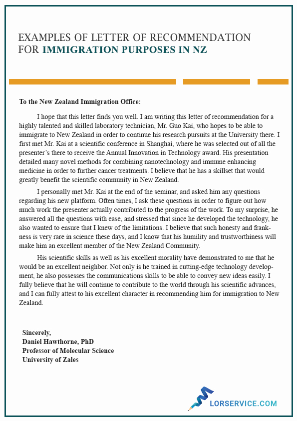 Letters Of Recommendation for Immigration Lovely Character Letter Of Re Mendation for Immigration In Nz