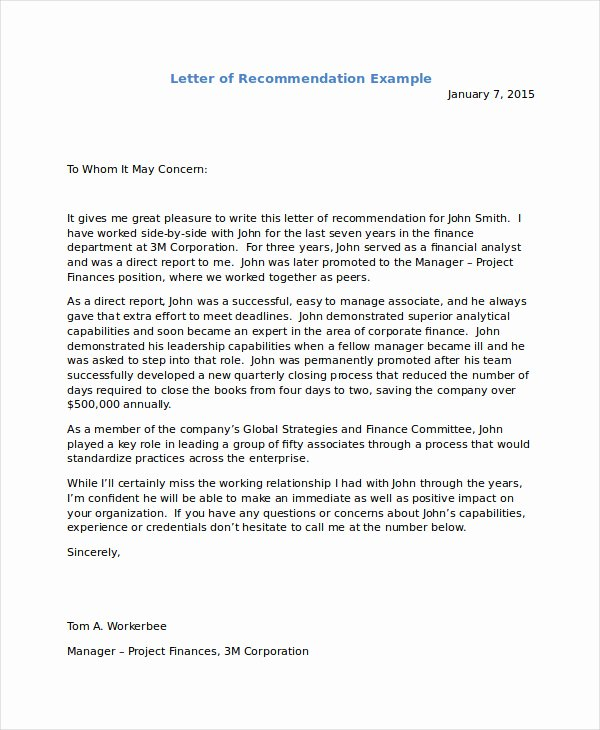 Letters Of Recommendation for Immigration Lovely Letter Re Mendation for Immigration