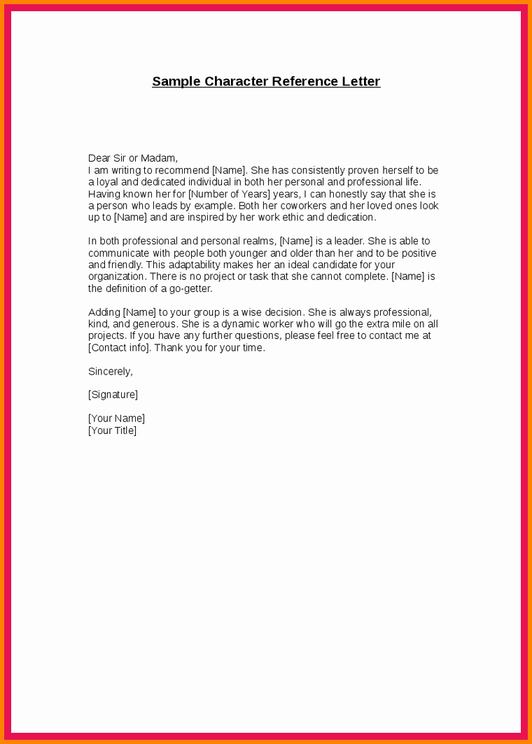 Letters Of Recommendation for Immigration Luxury 9 Example Of Good Moral Character Letter