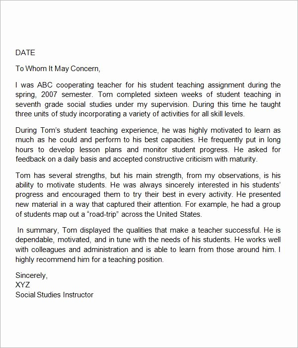 Letters Of Recommendation for Teachers Fresh Best 25 Reference Letter for Student Ideas On Pinterest