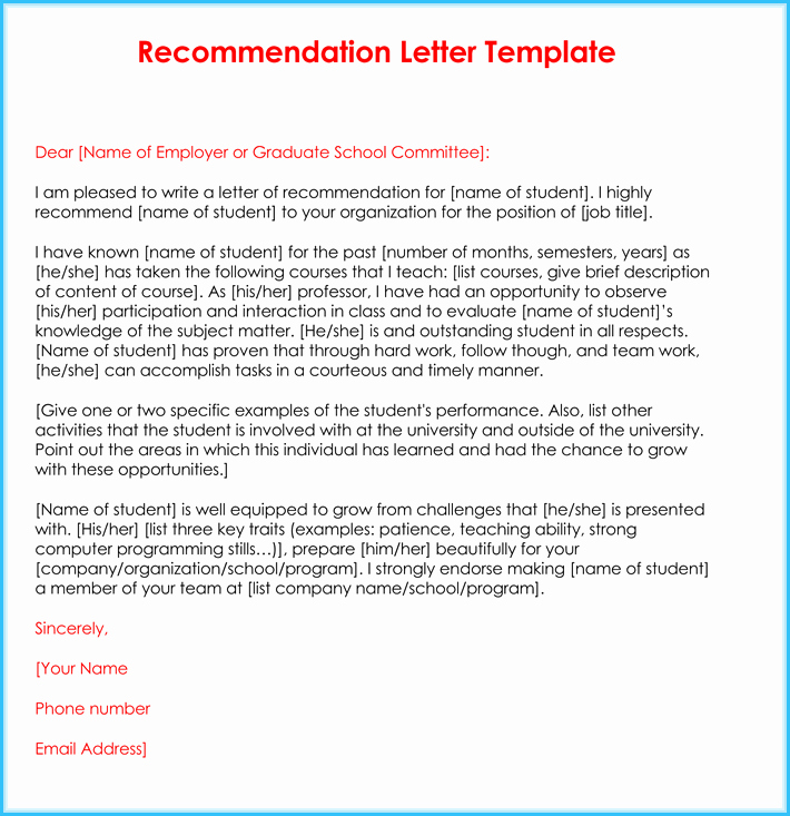 Letters Of Recommendation for Teachers New Teacher Re Mendation Letter 20 Samples Fromats